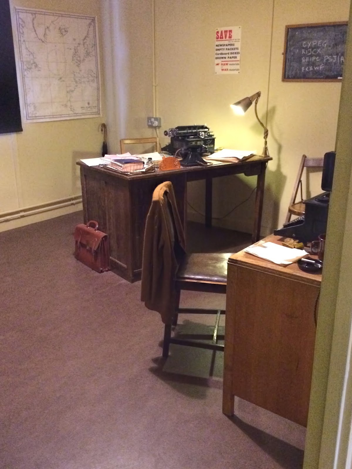 Turing's Desk in Hut 8, Bletchley Park